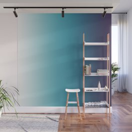 Blue White Gradient Wall Mural