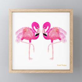 Go-Go Flamingo Framed Mini Art Print