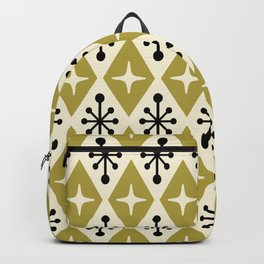 Mid Century Modern Atomic Triangle Pattern 109 Backpack