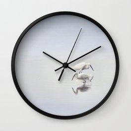 Egret Dance Wall Clock