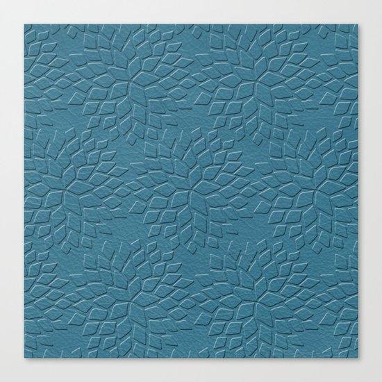 Leather Look Petal Pattern - Niagara Color Canvas Print