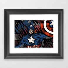 Captaino Americano Framed Art Print