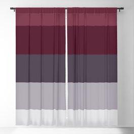 scandinavian moody winter fashion dark red plum burgundy grey stripe Blackout Curtain
