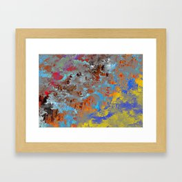 autumn fresh rainy days Framed Art Print