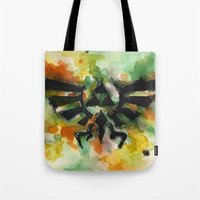 triforce Tote Bags featuring Triforce by Fernanda Frasson