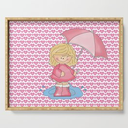 Puddle Jumper Girl Serving Tray