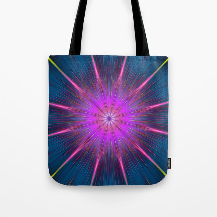 Artistic bright shining abstract star Tote Bag
