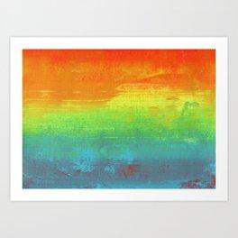 Abstract Rainbow Painting Art Print