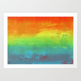 Abstract Rainbow Painting Art Print