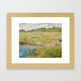 Childe Hassam - The Concord Meadow, 1891 Framed Art Print