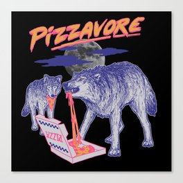 Pizzavore Canvas Print