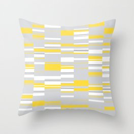 Mosaic Rectangles in Yellow Gray White #design #society6 #artprints Throw Pillow