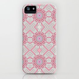 Pink Psychedelic Glued Mandalas 1 iPhone Case