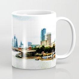 Red Buses and Blue Buildings Coffee Mug