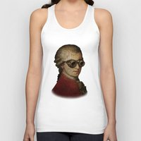 mozart Tank Tops featuring Funny Steampunk Mozart by Paul Stickland for StrangeStore