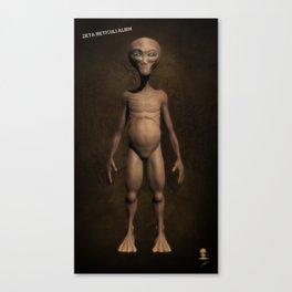 Zeta Reticuli Alien Canvas Print