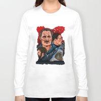 jaws Long Sleeve T-shirts featuring JAWS by David Amblard