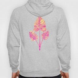 Tropical Palm Leaf Trifecta – Pink Palette Hoody