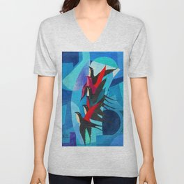 Starlings - The Dynamism of Flight by Pippo Rizzo Unisex V-Neck