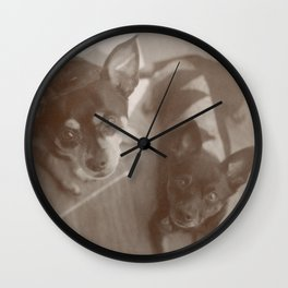 Charlie & Lucie Wall Clock