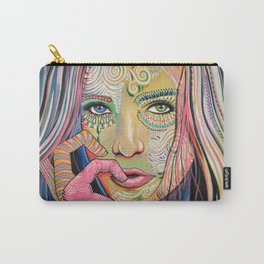 Abstract Art Women Portrait Painting ... Soul of Sunshine Carry-All Pouch