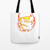 storm trooper Tote Bags featuring Storm trooper  by luccabanana