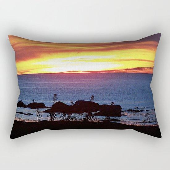 Sunset Swirling Clouds Rectangular Pillow