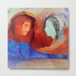 Odilon Redon Dante and Beatrice Metal Print