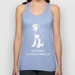 Airedale-Terrier-tshirt,-just-freaking-love-my-Airedale-Terrier Unisex Tank Top