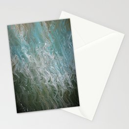 Wavy Mirage Water Marbling Stationery Cards