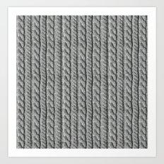 Grey Knit feeling Art Print