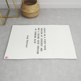 Judy Garland quote Rug