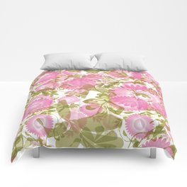 Pink and Green  Comforters