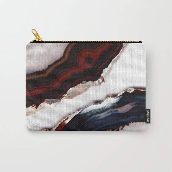 Red meets Blue - Agate Translucent #1 #decor #art #society6 Carry-All Pouch