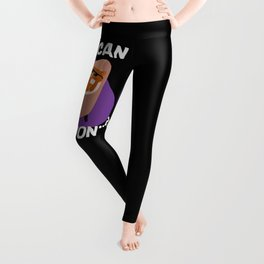 I can but I won't - funny king cat with thug life glasses hand drawn illustration Leggings