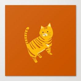 Orange Tabby Cat Canvas Print