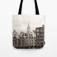 chelsea Tote Bags featuring Chelsea Sights by Caroline Mint