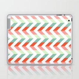 Chevron Raspberry and Peach - Geometric pattern  Laptop & iPad Skin