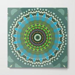 Basal Color Mandala 7 Metal Print