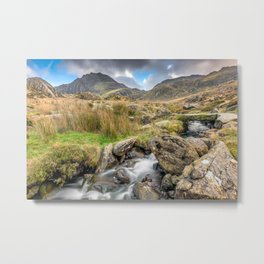 Tryfan Mountain River Metal Print