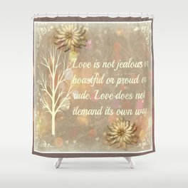 Love Two Shower Curtain