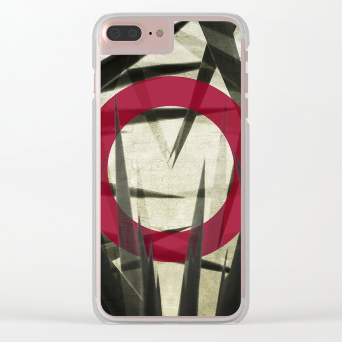 Yucca Leaves Abstract Clear iPhone Case
