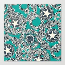 cirque fleur turquoise Canvas Print
