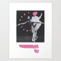 arrogant ballerina Art Print