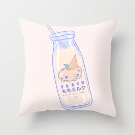 Peachy and Creamy Throw Pillow