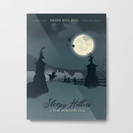 Sleepy Hollow art movie Metal Print