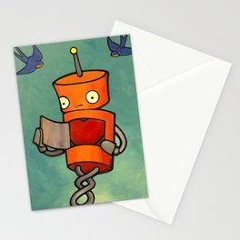 Robot - You Mke Me Float! Stationery Cards