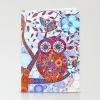 discount Stationery Cards featuring If Klimt Painted An Owl :) Owls are darling birds! by Love2Snap