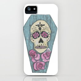 Day of the Dead Coffin iPhone Case