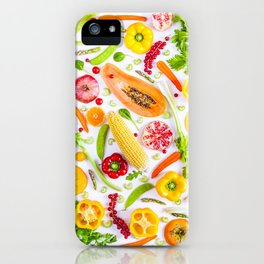 Fruits and vegetables pattern (31) iPhone Case